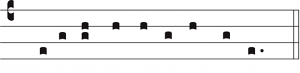 il pentagramma delle sillabe